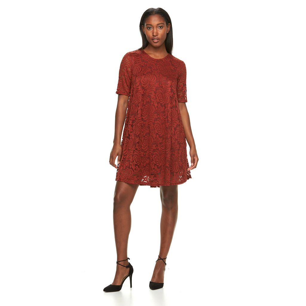 Women's Sharagano Lace A-Line Dress