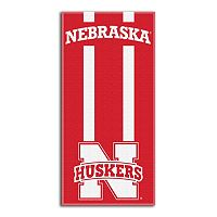 Nebraska Cornhuskers Zone Beach Towel