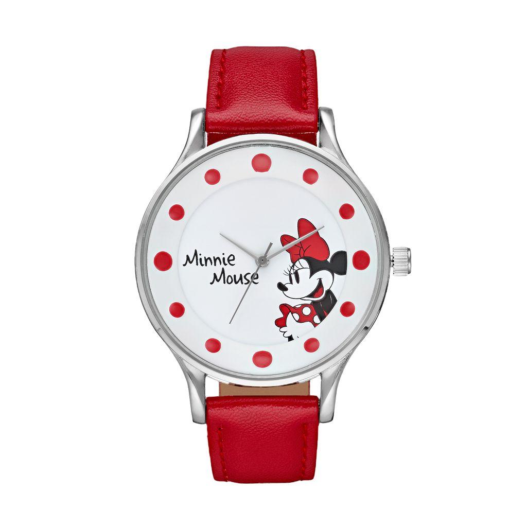 Disney's Minnie Mouse Women's Red Dot Watch