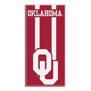 Oklahoma Sooners Zone Beach Towel