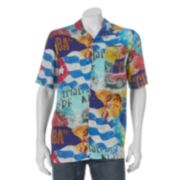 Men's Blue Marlin Button-Down Shirt
