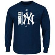 Men's Majestic New York Yankees AC Team Choice Long-Sleeve Tee