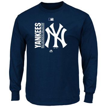 Men's Majestic New York Yankees AC Team Choice Long-Sleeve Tee