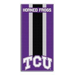 TCU Horned Frogs Zone Beach Towel
