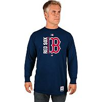 Men's Majestic Boston Red Sox AC Team Choice Long-Sleeve Tee