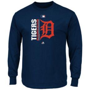 Men's Majestic Detroit Tigers AC Team Choice Long-Sleeve Tee