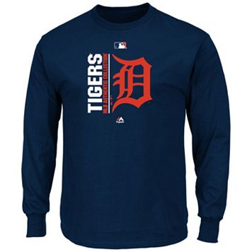 Men's Majestic Detroit Tigers AC Team Choice Long-Sleeve Tee