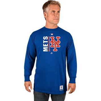 Men's Majestic New York Mets AC Team Choice Long-Sleeve Tee