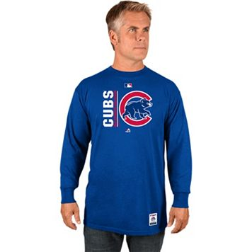 Men's Majestic Chicago Cubs AC Team Choice Long-Sleeve Tee