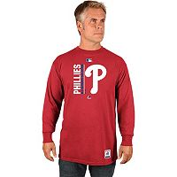 Men's Majestic Philadelphia Phillies AC Team Choice Long-Sleeve Tee
