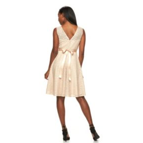 Women's Hope & Harlow Embellished Lace Fit & Flare Dress
