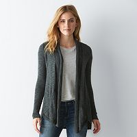 Women's SONOMA Goods for Life™ Ribbed Trim Cardigan