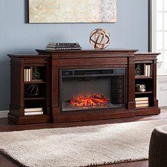 Raymond Bookcase Electric Fireplace