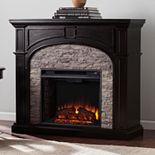 Knapp Faux Stone Electric Fireplace
