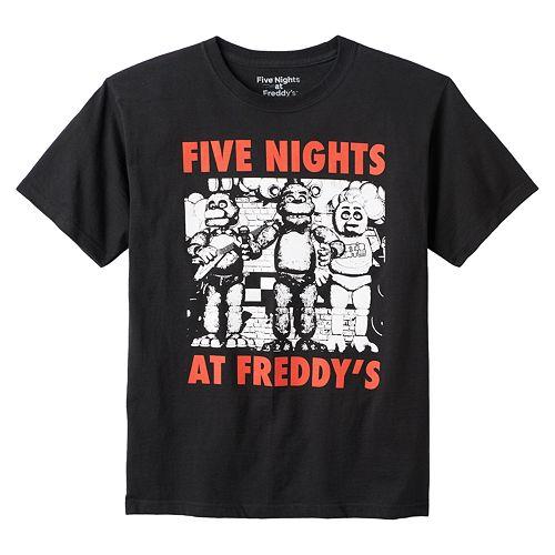 Boys 8-20 Five Nights At Freddy's Tee