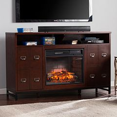 Roland Infrared Electric Fireplace TV Stand