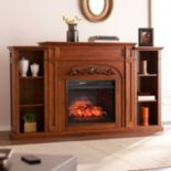 Mercer Bookcase Infrared Electric Fireplace