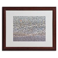 Trademark Fine Art Lakeshore Abstract Dark Finish Framed Wall Art