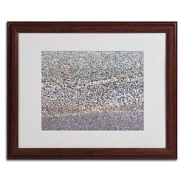 Trademark Fine Art Lakeshore Abstract Dark Finish Framed Wall Art