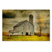Trademark Fine Art Ikd Barn On Stormy Afternoon Canvas Wall Art