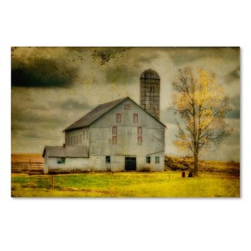 Trademark Fine Art Ikd Barn On Stormy Afternoon Canvas Wall Art