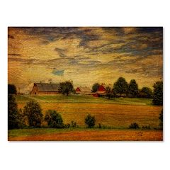 Trademark Fine Art 'Summer Farm' Canvas Wall Art