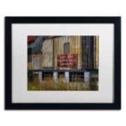 "Trademark Fine Art ""East End Tractor Sales"" Matted Black Framed Wall Art"