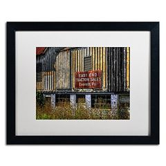Trademark Fine Art 'East End Tractor Sales' Matted Black Framed Wall Art