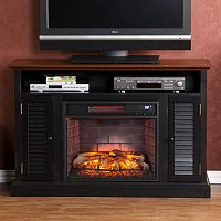 Antebellum Two-Tone Infrared Electric Fireplace TV Stand