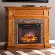 Gordon Faux Stone Infrared Electric Fireplace
