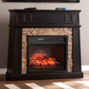 Mack Faux Stone Infrared Electric Fireplace