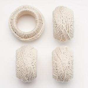 Food Network™ 4-pc. Jute Napkin Ring Set