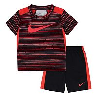 Toddler Boy Nike Predator Sublimated Print Tee & Shorts Set