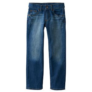Boys 4-7x SONOMA Goods for Life™ Dark Blue Slim Straight-Leg Jeans