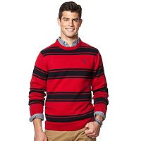 Big & Tall Chaps Classic-Fit Striped Crewneck Sweater