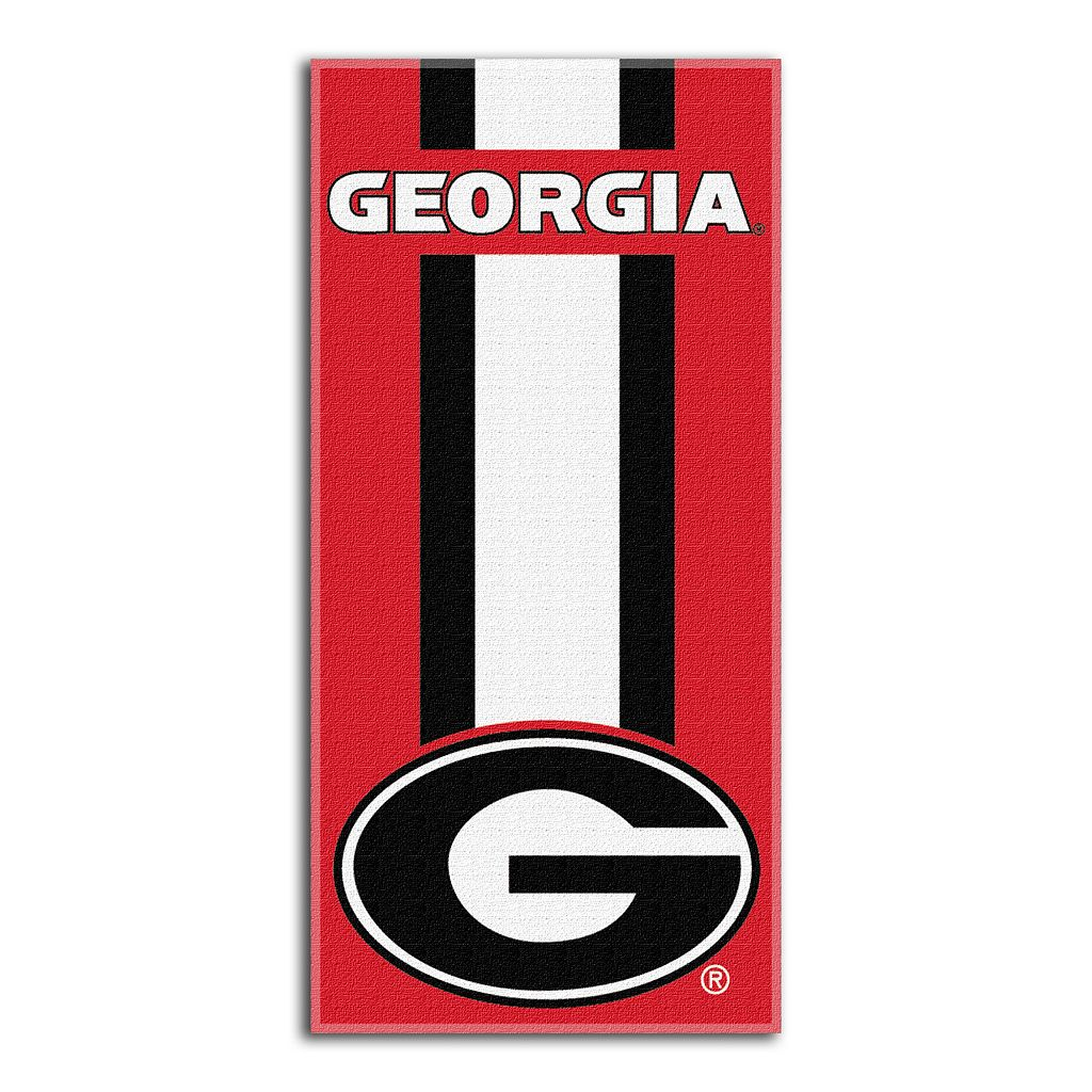 Georgia Bulldogs Zone Beach Towel
