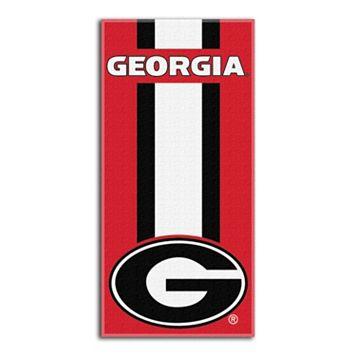 Georgia Bulldogs Zone Beach Towel