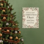 "Stratton Home Decor ""Christmas Cheer"" Linen Wall Art"