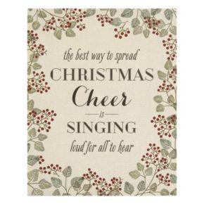 "Stratton Home Decor ""Christmas Cheer"" Linen Wall Art"