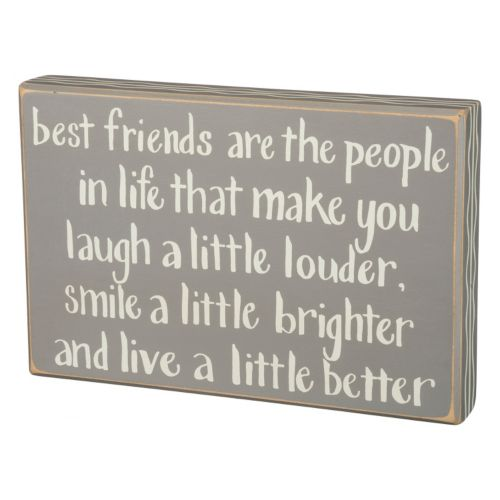 """Best Friends"" Box Sign Wall Decor"