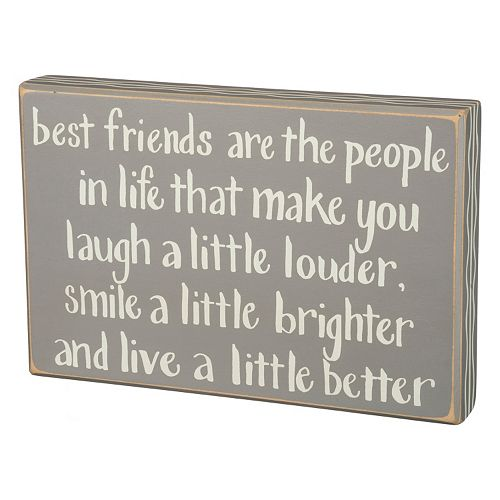 Best Friends Box Sign Wall Decor