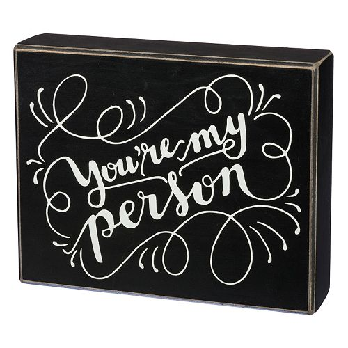 You're My Person Box Sign Wall Decor