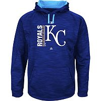 Men's Majestic Kansas City Royals On Field Team Icon Hoodie