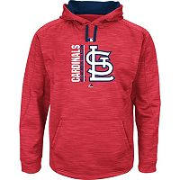 Men's Majestic St. Louis Cardinals On Field Team Icon Hoodie