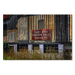 Trademark Fine Art 'East End Tractor Sales' Canvas Wall Art