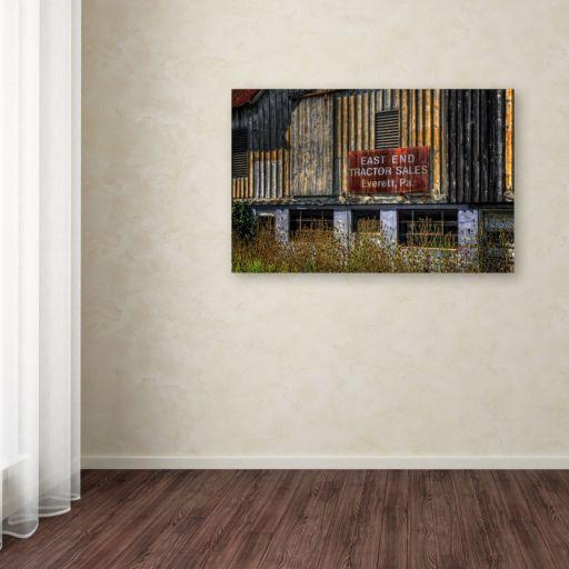 "Trademark Fine Art ""East End Tractor Sales"" Canvas Wall Art"