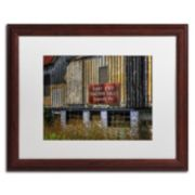 "Trademark Fine Art ""East End Tractor Sales"" Matted Wood Finish Framed Wall Art"
