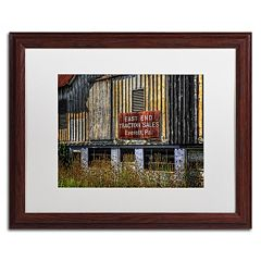 Trademark Fine Art 'East End Tractor Sales' Matted Wood Finish Framed Wall Art