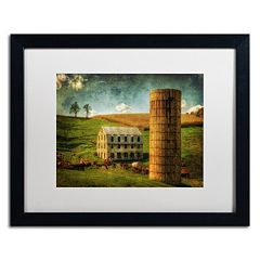Trademark Fine Art 'His Pride and Joy' Matted Black Framed Wall Art