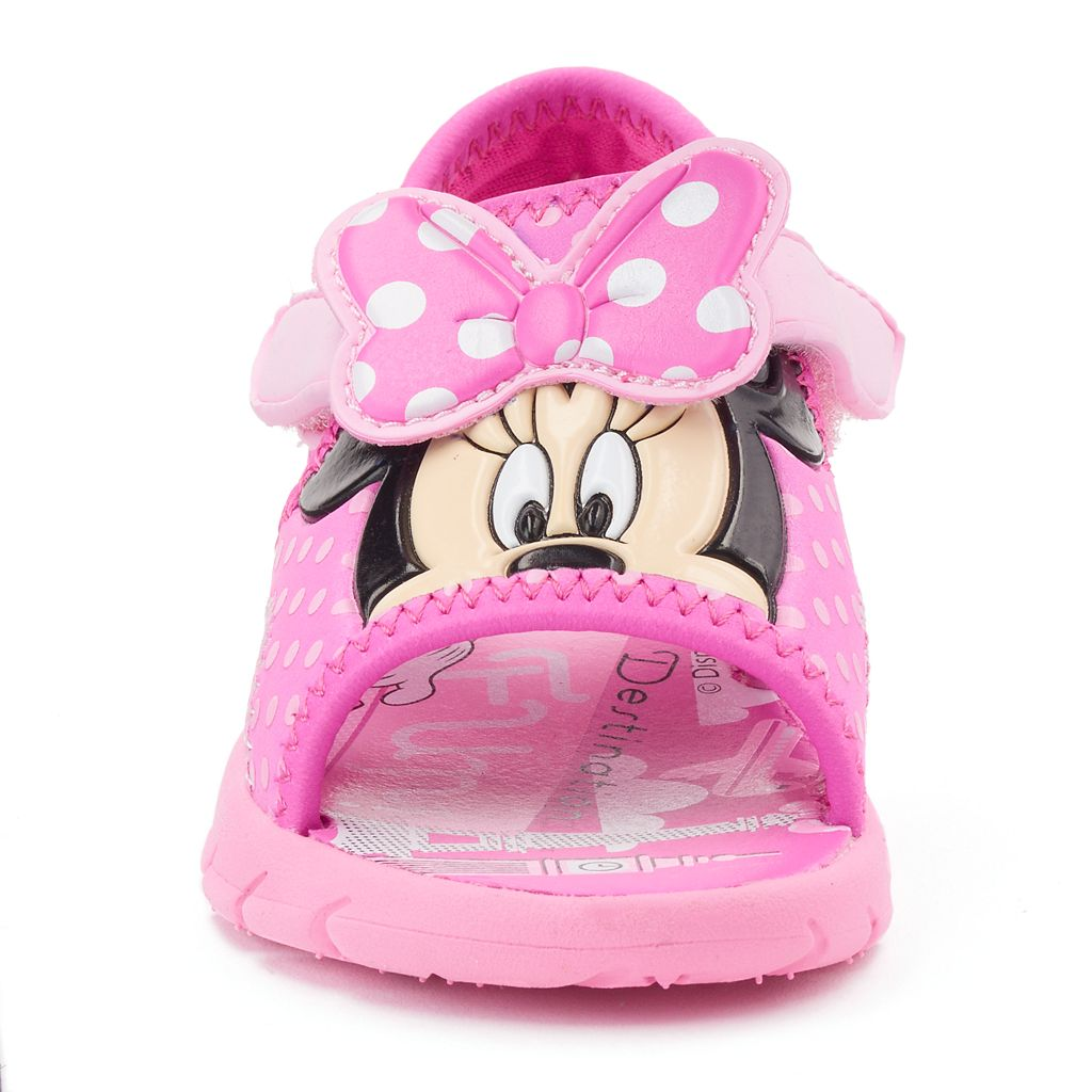 Disney Minnie Mouse Toddler Girls' Polka-Dot Sandals